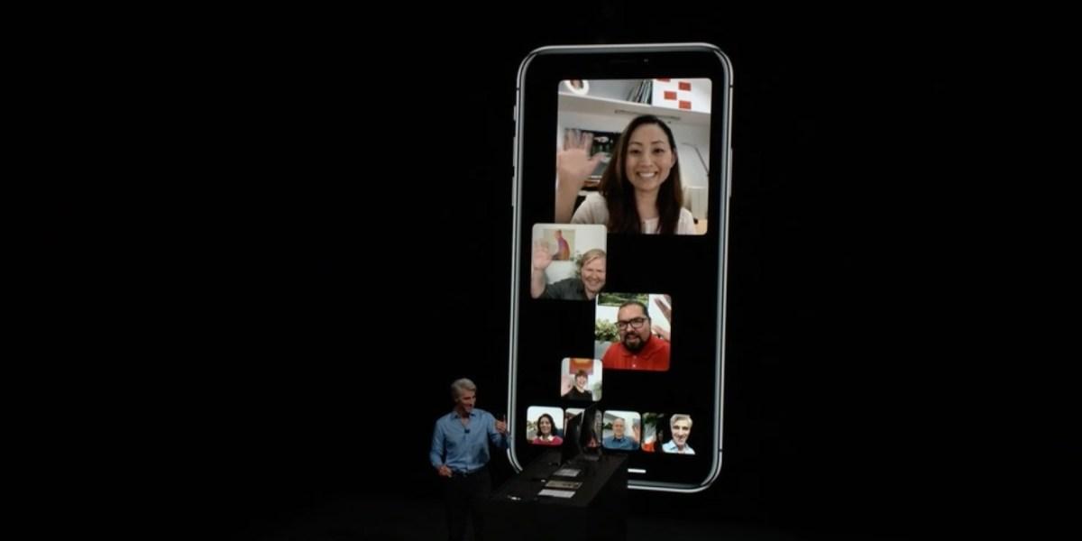 Group Facetime on iOS 12.