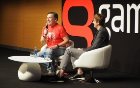 Shawn Layden and Mark Cerny talk about Sony's game business at Gamelab.