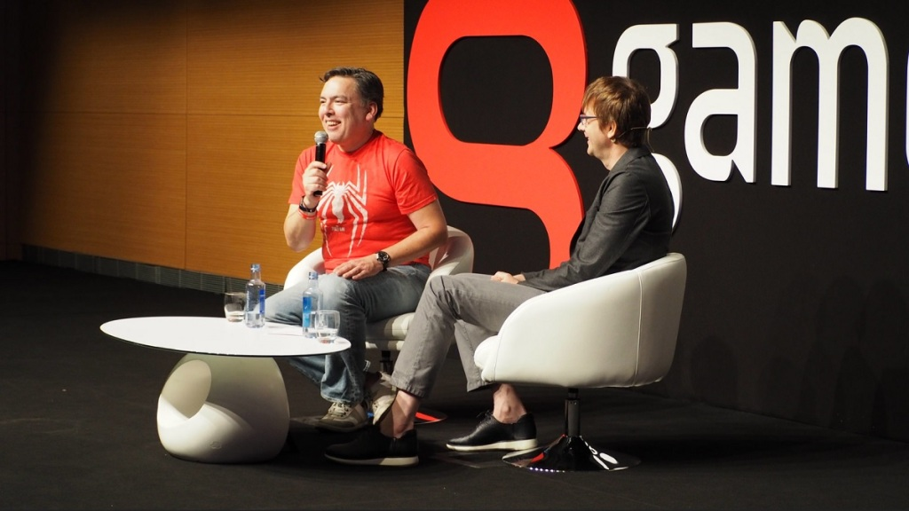 Shawn Layden and Mark Cerny at Gamelab.