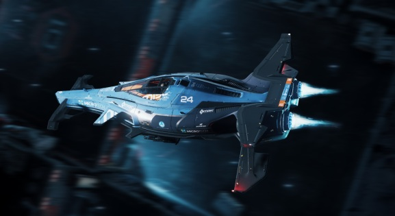 A Razor ship in Star Citizen.