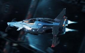 A Razor ship in Star Citizen.