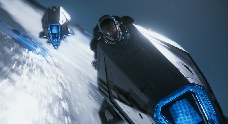 Nox's race across Yela in Star Citizen.