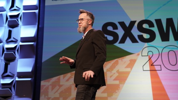Strangeworks founder and CEO William Hurley launching the compnay at SXSW.