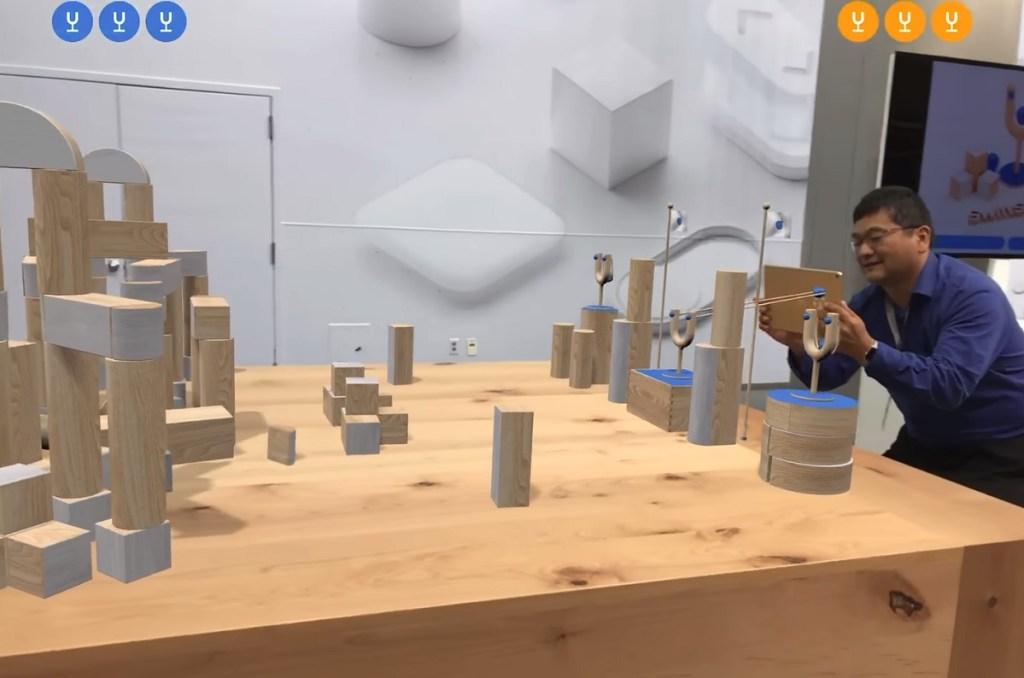 Dean Takahashi of GamesBeat plays Apple's Swift Shot augmented reality game.