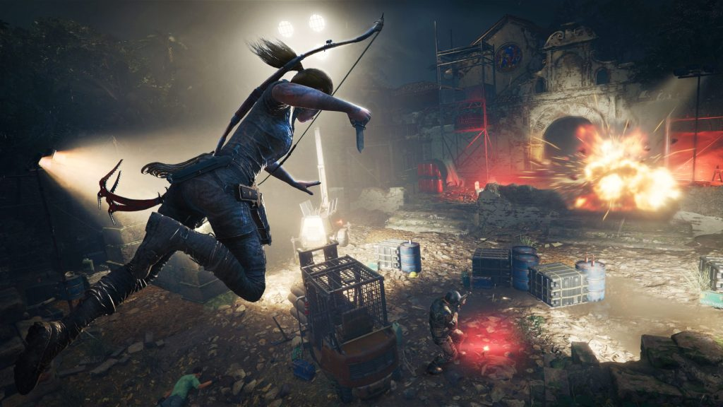 Lara Croft causes death from above in Shadow of the Tomb Raider.