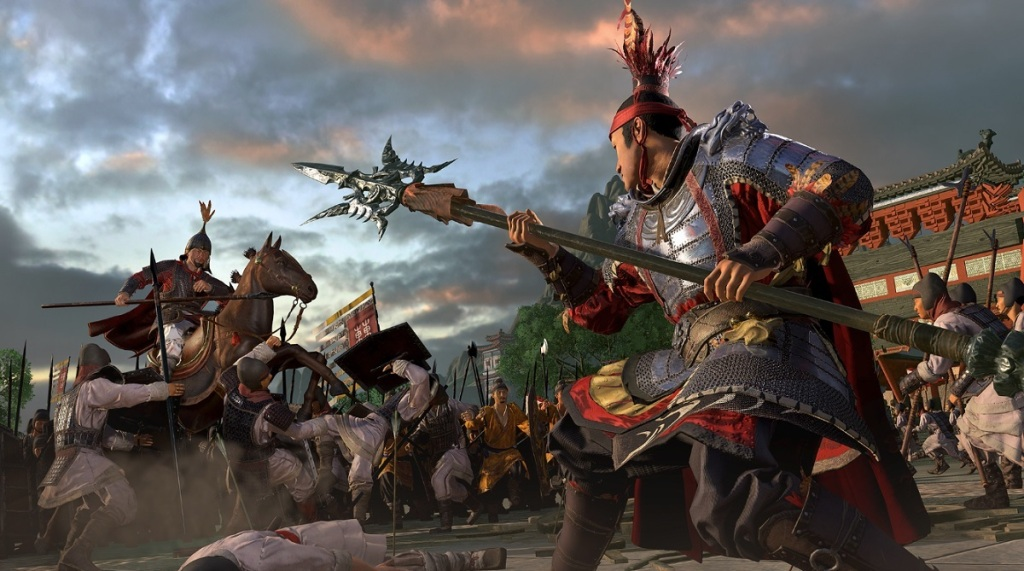 In-game footage from Total War: Three Kingdoms.