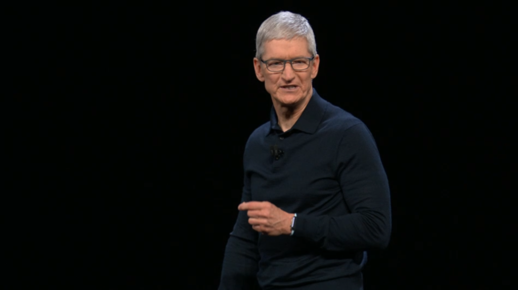 Tim Cook at Apple's Worldwide Developer Conference (WWDC) 2018