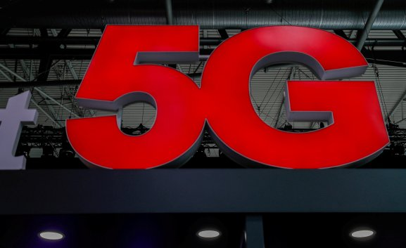 A 5G sign is seen during the Mobile World Congress in Barcelona, Spain February 28, 2018.