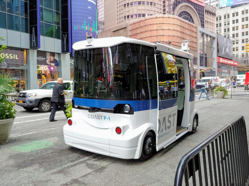 Coast Autonomous' self driving shuttles are boring, and that's by design