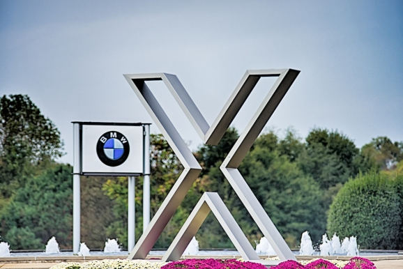 The exterior of the BMW plant in Spartanburg, South Carolina.