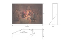 This plan shows how InXile went about re-creating the iconic scene in 3D.