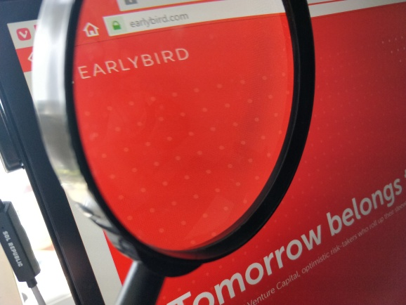 Earlybird homepage