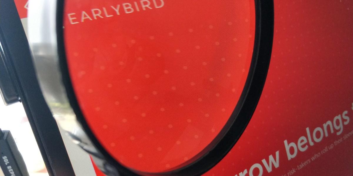 Earlybird homepage