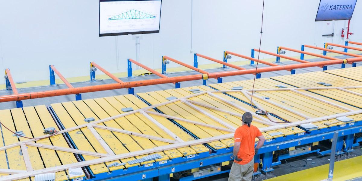 The inside of Katerra's Phoenix factory.