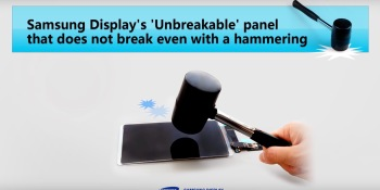 Watch Samsung's 'unbreakable' phone screen withstand repeated blows