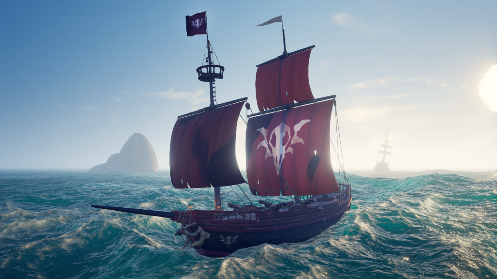The new Brigantine ship that Rare designed for three-player crews.