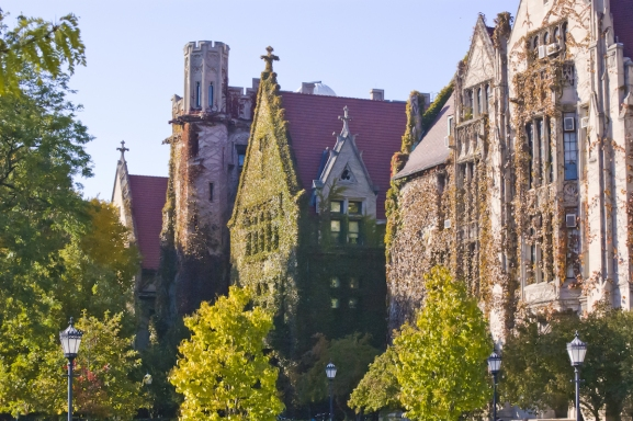 A building on the University of Chicago's campus.