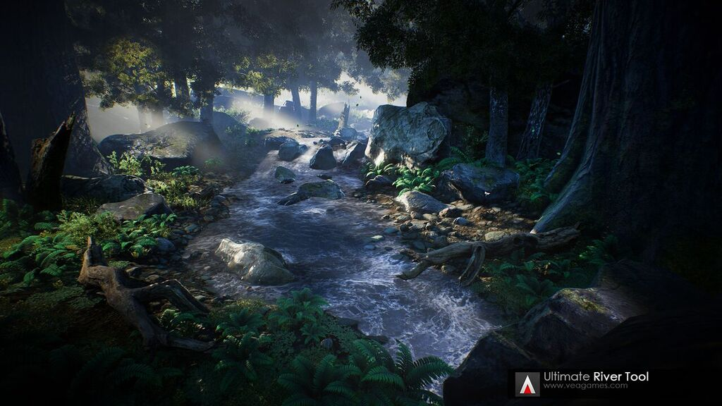 The Ultimate River Tool from the Unreal Engine Marketplace.