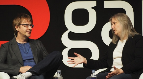 Mark Cerny and Amy Hennig discuss their career in games at Gamelab 2018.