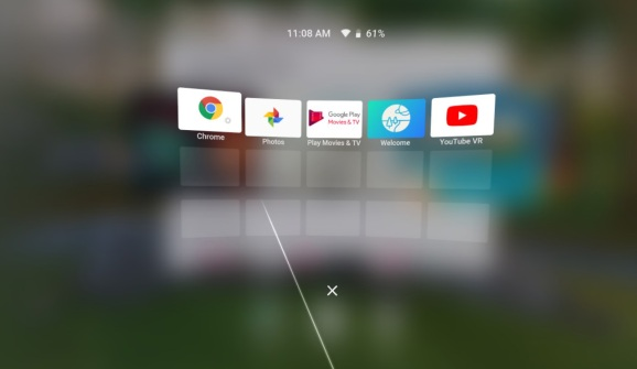 Google Chrome on Daydream View VR.