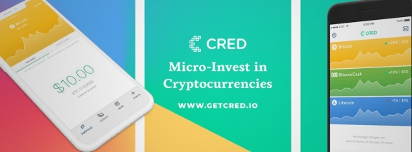 Cred lets you micro-invest in cryptocurrencies from an app.