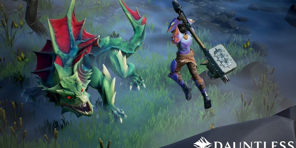 Fighting a Drask in Dauntless.