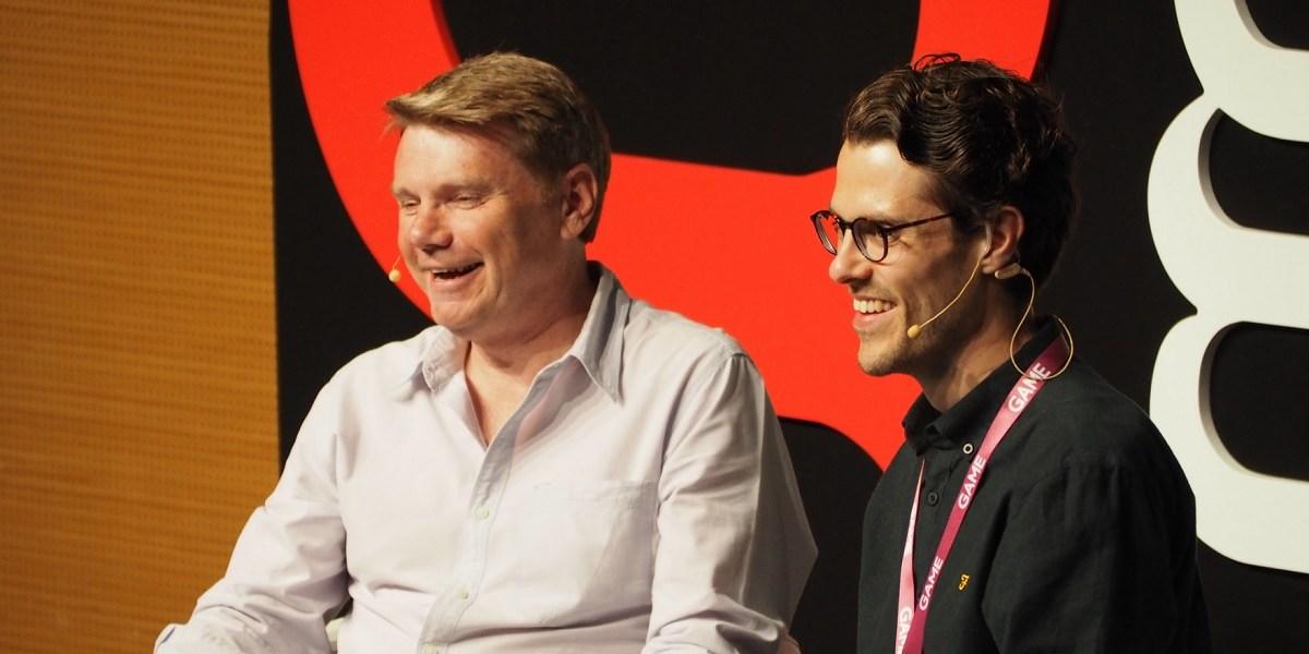 Dave Jones, creator of the original Grand Theft Auto, and Robert Purchese of Eurogamer.