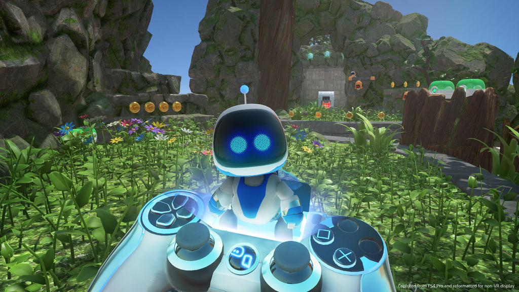 Astro Bot: Rescue Mission evolved from Sony's Playroom VR demo, Robot Rescue.