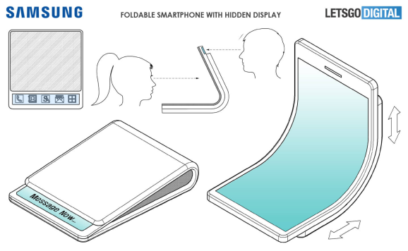 A recent Samsung patent reveals a smartphone that flexes like a billfold.