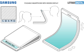 A recent Samsung patent reveals a smartphone that flexes like a billfold.