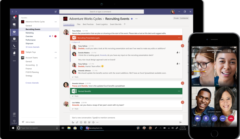 Microsoft launches free version of Teams | VentureBeat