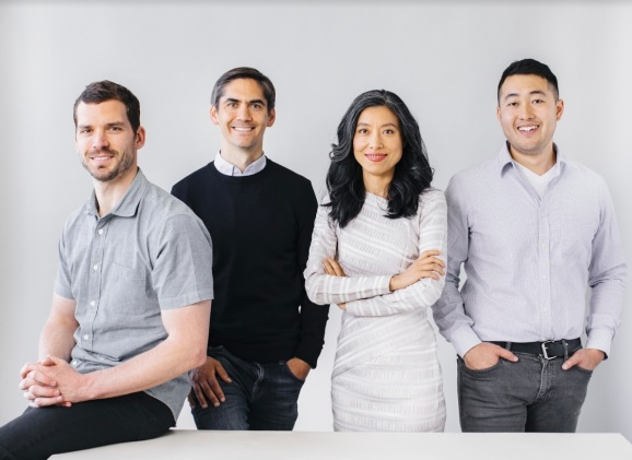 The founders of Oasis Labs. CEO Dawn Song is third from left.