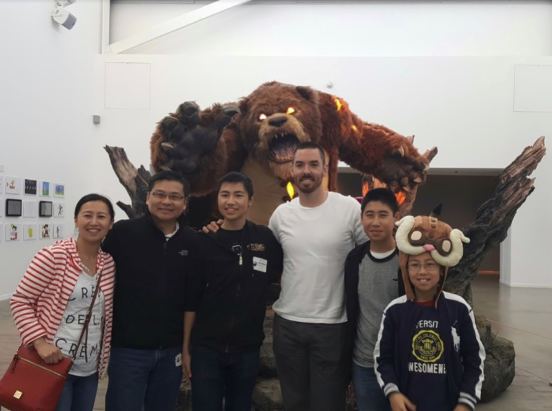 Bryan's family at Riot Games.