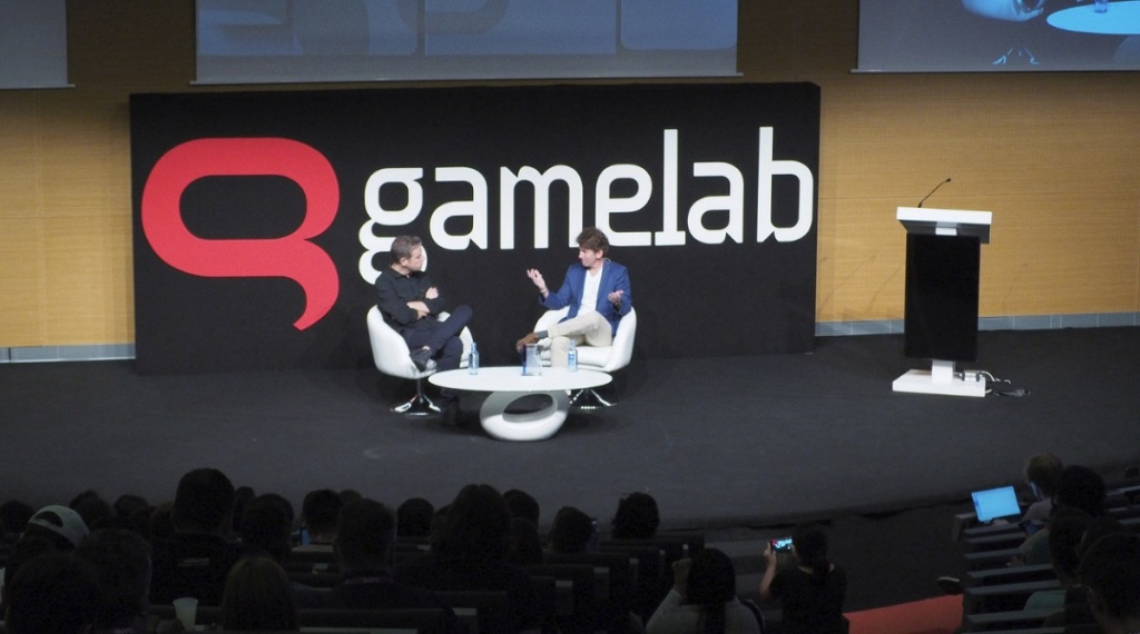 Todd Howard received the Industry Legend award at Gamelab 2018.