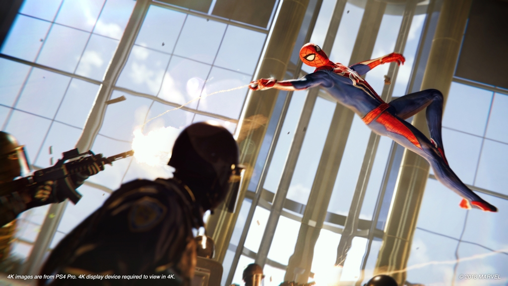 Spider-Man's combat is customizable with different abilities and gadgets.