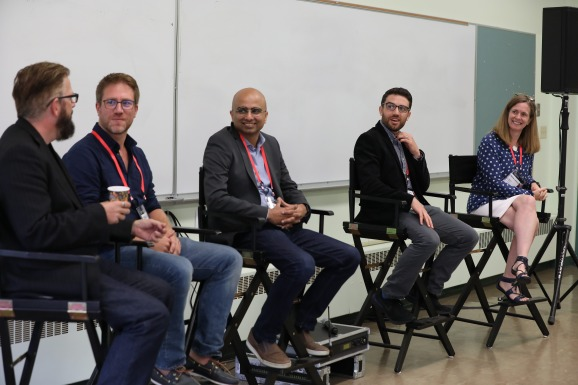 Faizan Buzdar, senior director and platform manager at cloud storage provider Box; Wilco van Duinkerken, head of product at Trivago; Jon Fasoli, director of product management at Intuit, and Jana Eggers, CEO of Nara Logics.