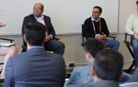 Jessica Groopman, Analyst at Kaleido Insights; Rahul Todkar, VP, Enterprise Data Science, Research and Marketing Analytics at Charles Schwab; Tom Pinckney, VP, Buyer Experience Applied Research at eBay; and Nikhil Raghavan, VP of Product at Etsy