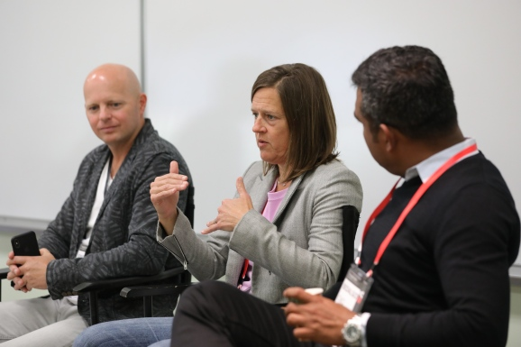 John Koetsier, Singular VP of Insights; Julie Shumaker, VP of Advertiser Solutions at Unity Technologies; Bidalgo CMO Rishi Shiva at Transform 2018