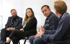 Stewart Rogers, Director, Marketing Technology at VentureBeat; Timothy Sears, VP, Data Science & Engineering for Target; Gus Weber, VP, Enterprise Data & Analytics at Nike and Jessica Lachs, Head of Analytics, DoorDash
