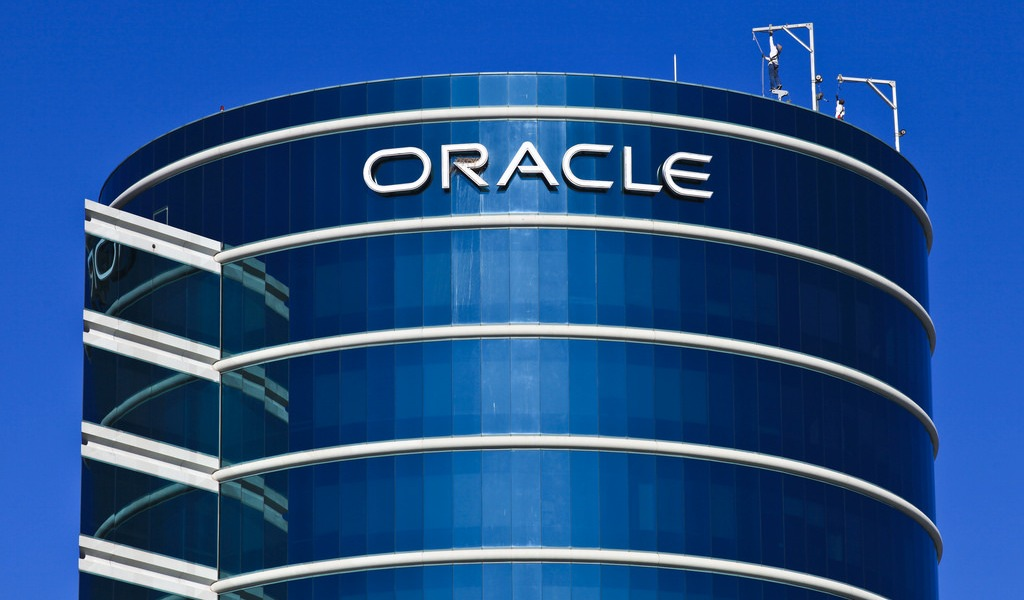 Oracle headquarters in Redwood City, Calif.