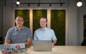 Duo security cofounders Dug Song (left) and
