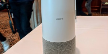 Huawei's first smart speaker is the AI Cube, with Alexa and built-in 4G router