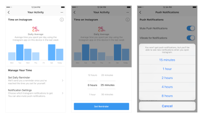 Facebook and Instagram add activity trackers to help you limit your time on social media | VentureBeat