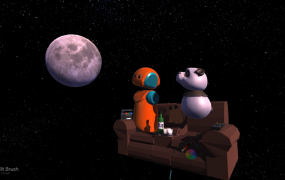 When the moon hits your eye like a big ... panda bear?