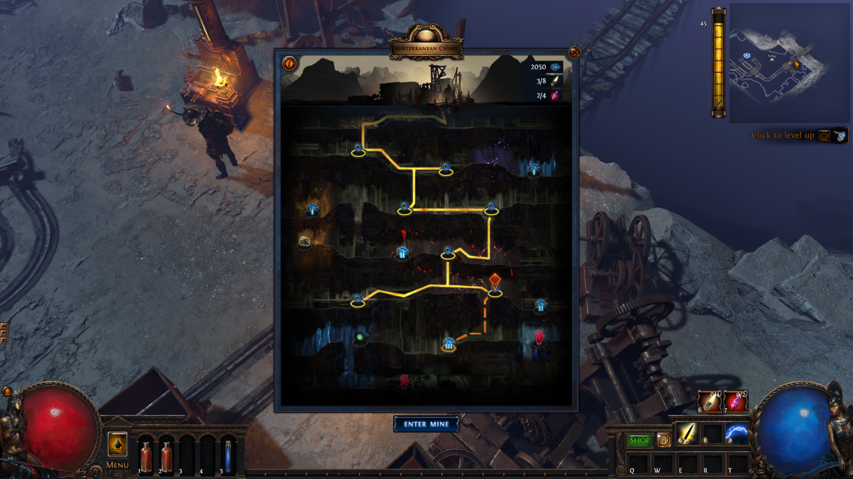 Path of Exile's next Challenge League is Delve, an infinite