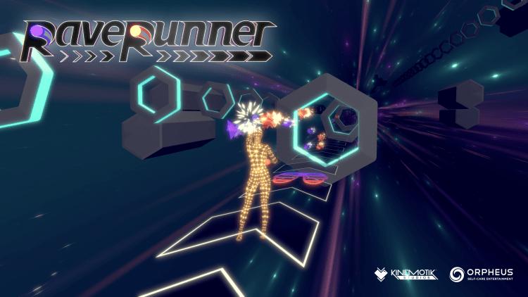 One of Orpheus's new games, RaveRunner.
