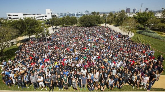 The employees of Riot Games .