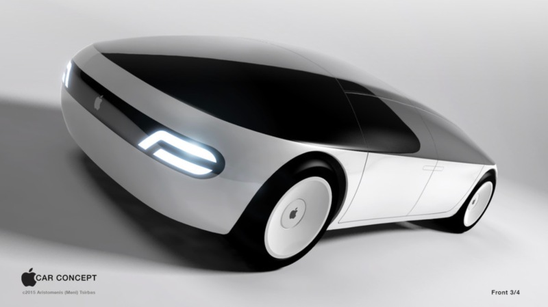 An imagined Apple Car. This design by Aristomenis Tsirbas won Freelancer's Apple Car Concept contest in 2015.