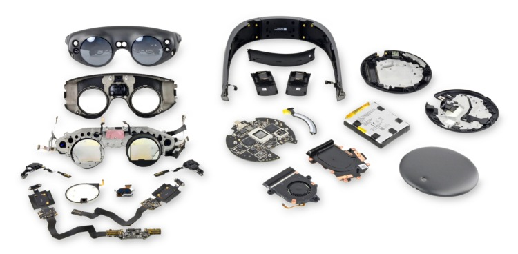 iFixit has posted a comprehensive teardown of the Magic Leap One augmented reality platform, including its headset and computing components.