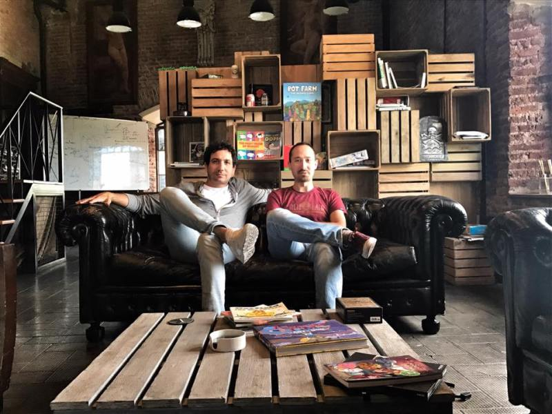 Pixowl founders Sebastian Borget and Arthur Madrid.